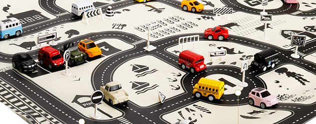 Beyoung Premium Road Rug with kids car toys For Toddlers