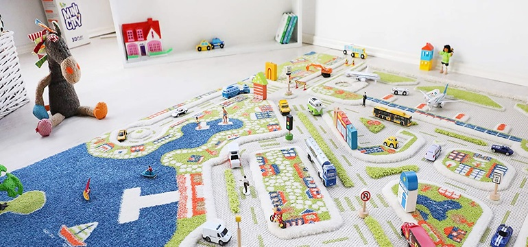 kids traffic play mat