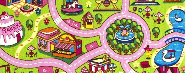 Mybecca Kids Rug Colourful Fun Land for Girls